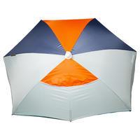 """Užuovėja nuo saulės """"Iwiko 180"""", 3 asmenims, UPF50+, mėtos, pilka, oranžinė"""