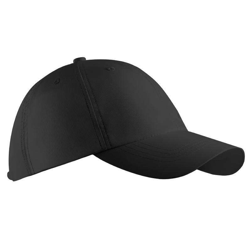 Adult's breathable golf cap - black