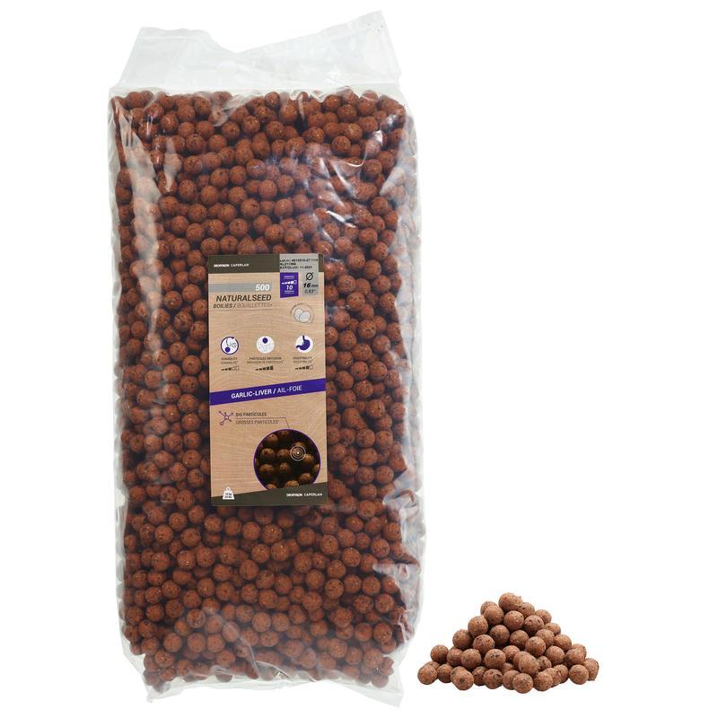 Boilies voor het karpervissen Natural Seed 16 mm 10 kg knoflook/lever