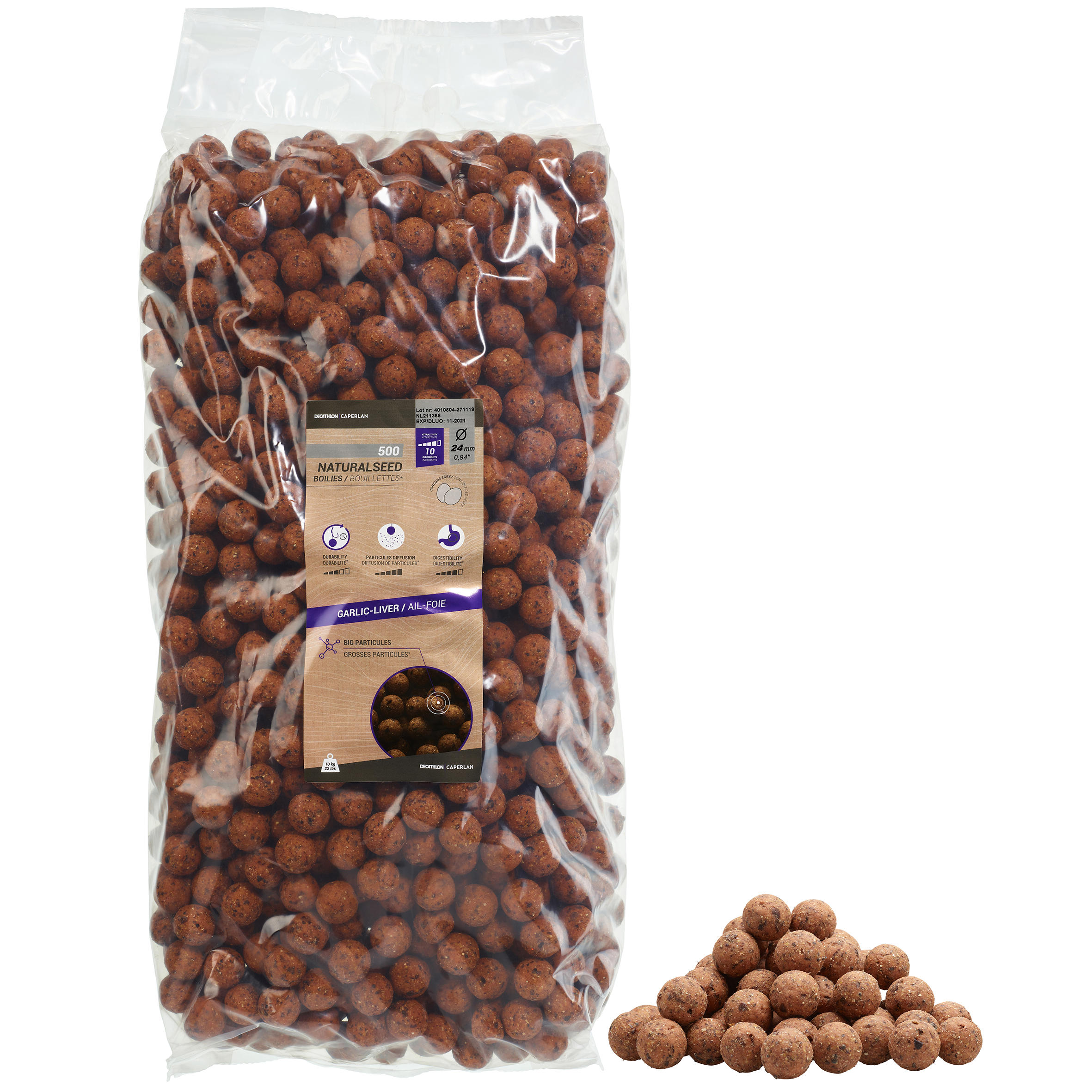 Boilies NATURALSEED 14mm1kg
