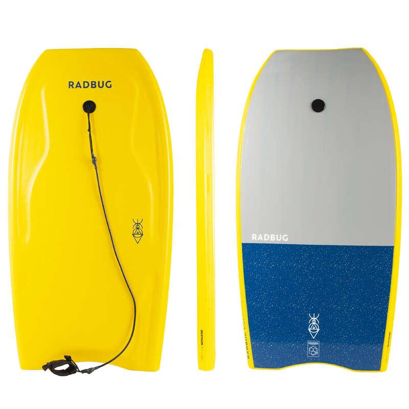 BODYBOARDS AND ACCESSORIES Surf - 100 bodyboard + leash - Yellow RADBUG - Surf