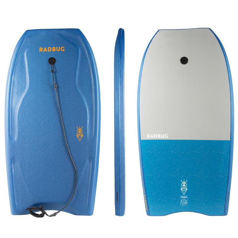 Bodyboard soft 100 blu + leash
