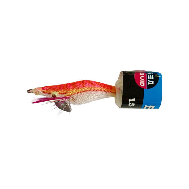 Squid jig voor zeekat / pijlinktvis EGI verzwaard roze 1.5 4 cm