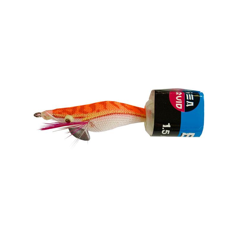 Squid jig voor zeekat / pijlinktvis EGI verzwaard oranje 1.5 4 cm