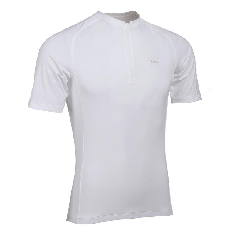 Men's Road Cycling Short-Sleeved Jersey Essential - White