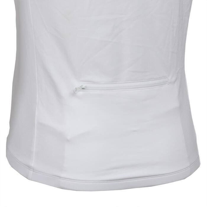 男款自行車短袖車衣Essential-白色