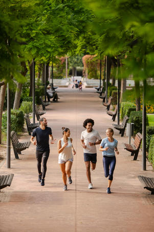 RUN DRY+ MEN'S RUNNING T-SHIRT ABYSS GREY