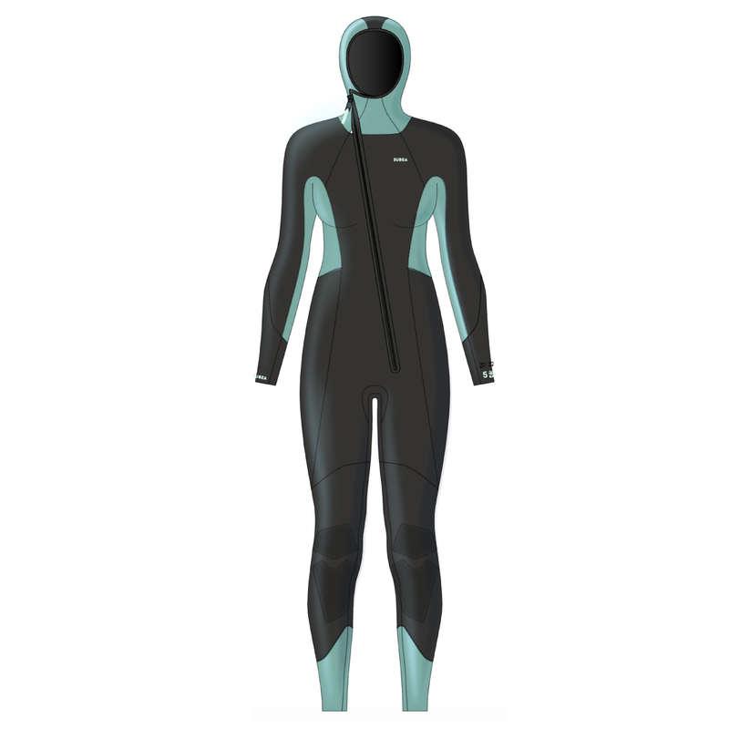 SCD SUITS 16/24° Дайвинг (подводное плавание) - Гидрокостюм 5 мм жен. SCD 100 SUBEA - Семьи и категории