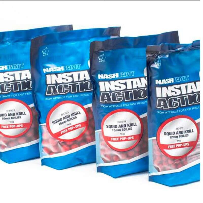 BOILIES, ESCHE CARPFISHING Pesca - Boiles NASH 18mm squid & krill NASH - CARPFISHING