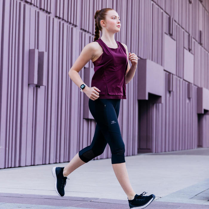 DEBARDEUR RUN FEEL JOGGING FEMME BORDEAUX