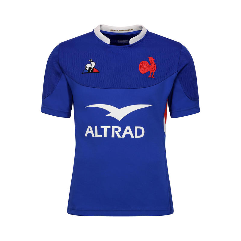 Rugbyshirt korte mouwen FFR XV replica van wedstrijdshirt Frans rugbyteam 2020