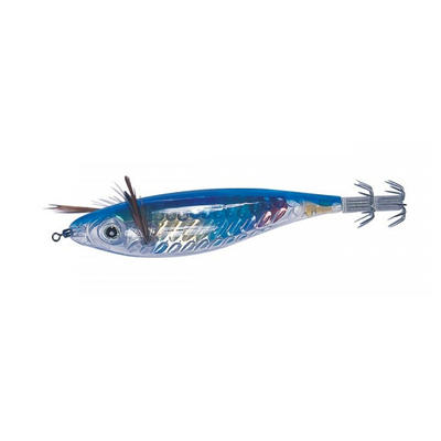 Turluttes crystal 12cm bleu pêche des seiches/calamars