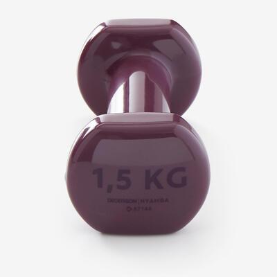 Fitness 1.5 kg Dumbbells Twin-Pack - Burgundy