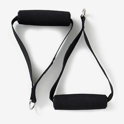 Fitness Medium Resistance Band (10 lb / 5 kg) with Handles - Burgundy
