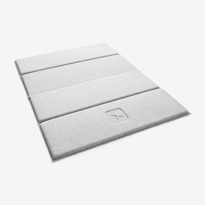 皮拉提斯小型地墊 - 灰色/50 cm x 39 cm x 8 mm