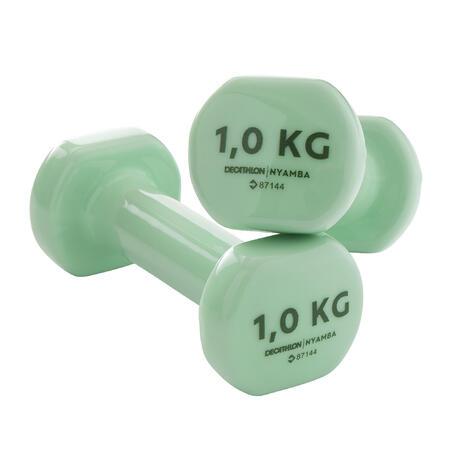 PVC Dumbbells Twin Pack 1KG x2 Pilates - Nyamba