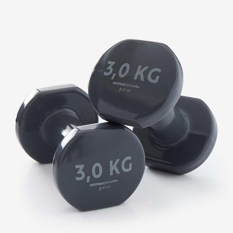 ALAKFORMÁLÁS FELSZERELÉS Fitnesz - Súlyzó pár, 2x3 kg NYAMBA - Testépítés és cross training eszközök