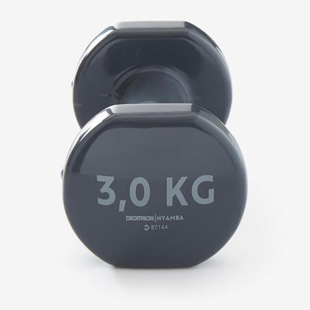 Fitness 3 kg Dumbbells Twin-Pack - Grey