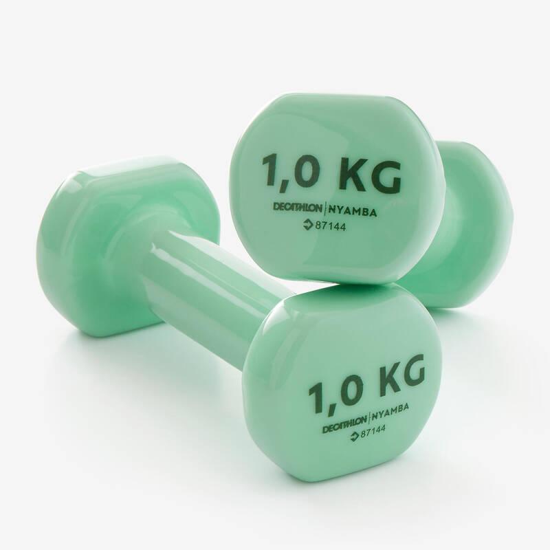 VYBAVENÍ NA POSILOVÁNÍ Fitness - POSILOVACÍ ČINKY 1 KG 2 KS NYAMBA - Příslušenství na cvičení a pilates