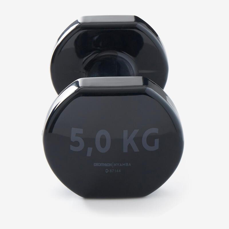 Pilates Toning Dumbbells Twin-Pack 5 kg - Dark Grey