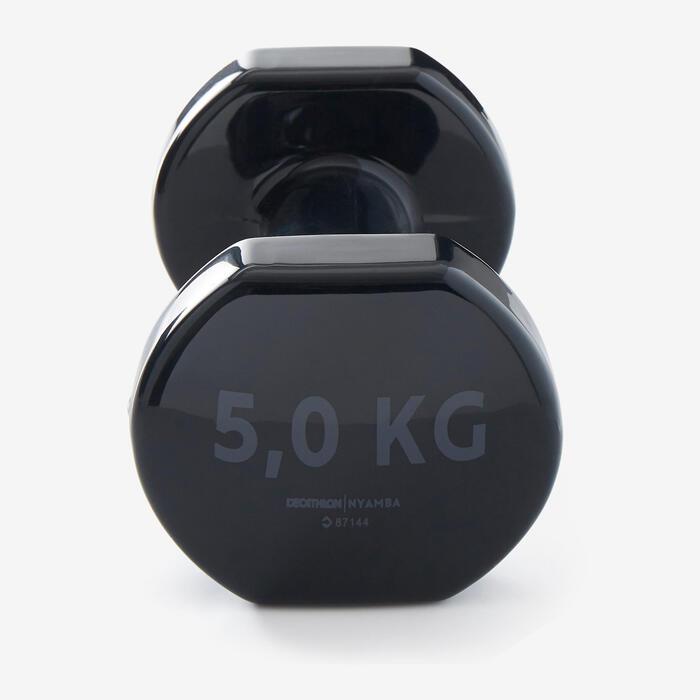 HALTERES TONE DUMBELL 2*5 Kgs NOIR