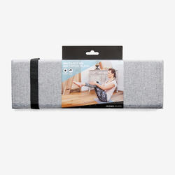 Pilates Mini Floor Mat - Grey/50 cm x 39 cm x 8 mm
