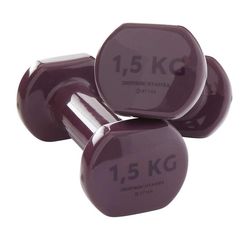 ALAKFORMÁLÁS FELSZERELÉS Fitnesz - Súlyzó pilateshez, 2 x 1,5 kg NYAMBA - Testépítés és cross training eszközök