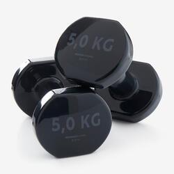 Halters voor fitness 5 kg zwart per paar