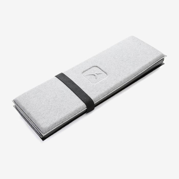 Mini-Pilatesmatte grau 50cm × 39cm × 8mm