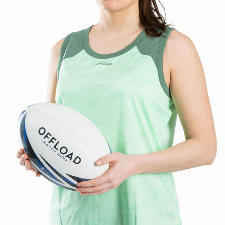 Size 5 Rugby Ball R500 Match - Blue