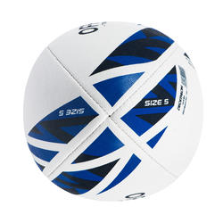 Rugby Training Ball Size 5 R100 - Blue