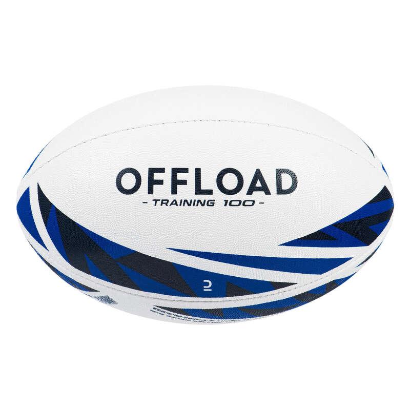 BOLLAR, TILLBEHÖR FÖR RUGBY Lagsport - Rugbyboll R100 TRAINING stl 5 OFFLOAD - Rugby