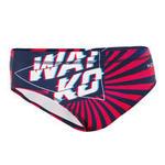 Watko Zwemslip voor waterpolo voor heren 500 japan blauw/rood
