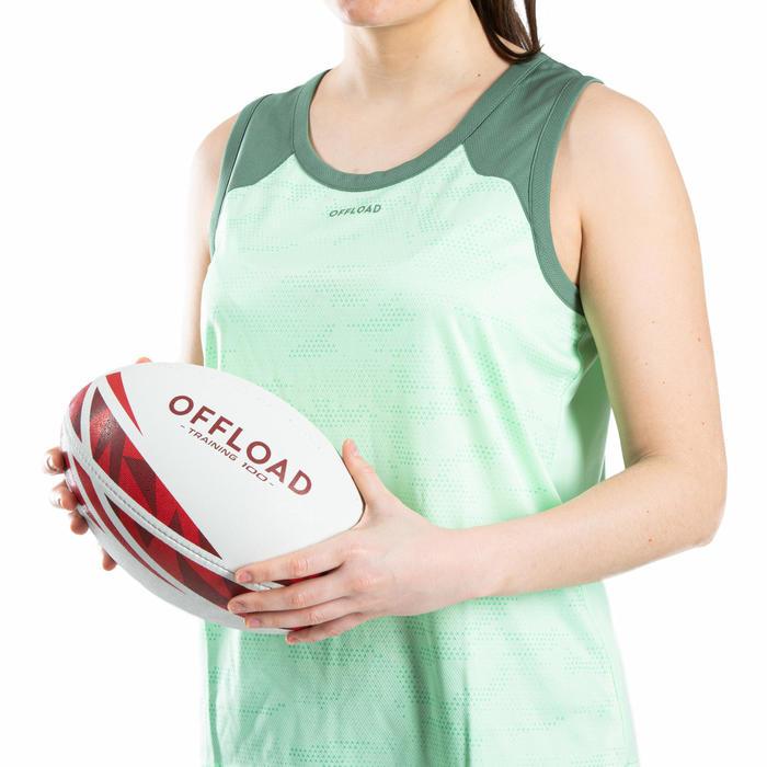 Rugbyball R100 Training Größe 4 rot
