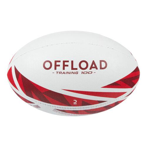 Ballon de rugby R100 taille 4 rouge