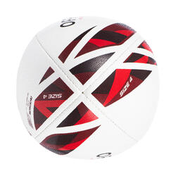 BALLON DE RUGBY R500 Taille 4 match rouge