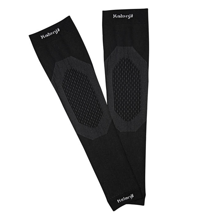 COUVRE BRAS RUNNING PROTECTION FROID KIPRUN NOIR