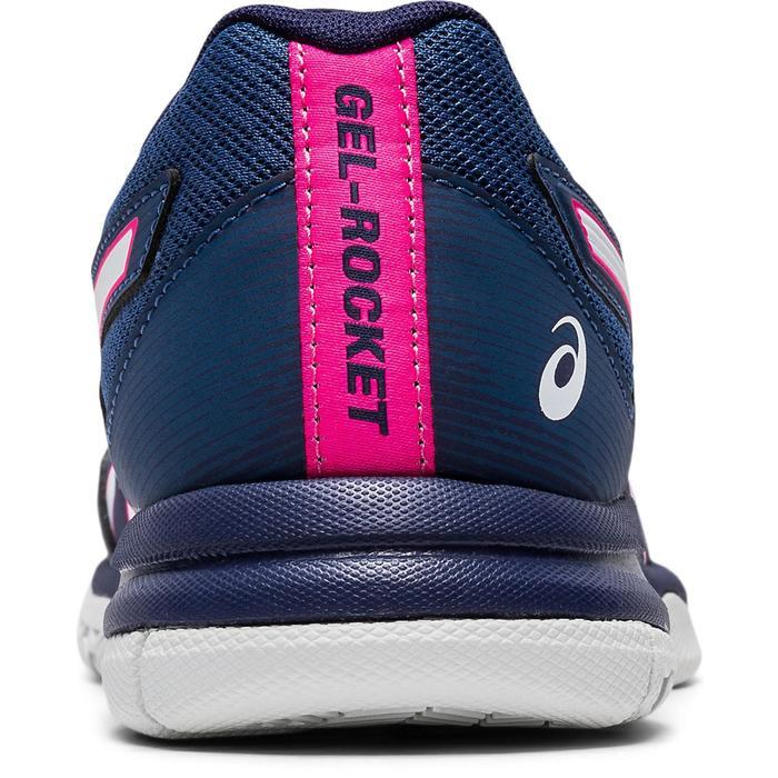 Chaussure de Badminton Squash, Sport Indoor femme GEL ROCKET Bleu / Blanc / Rose