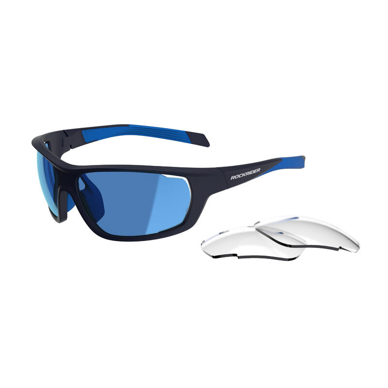 Gafas BTT XC PACK azul intercambiables CAT 0+3