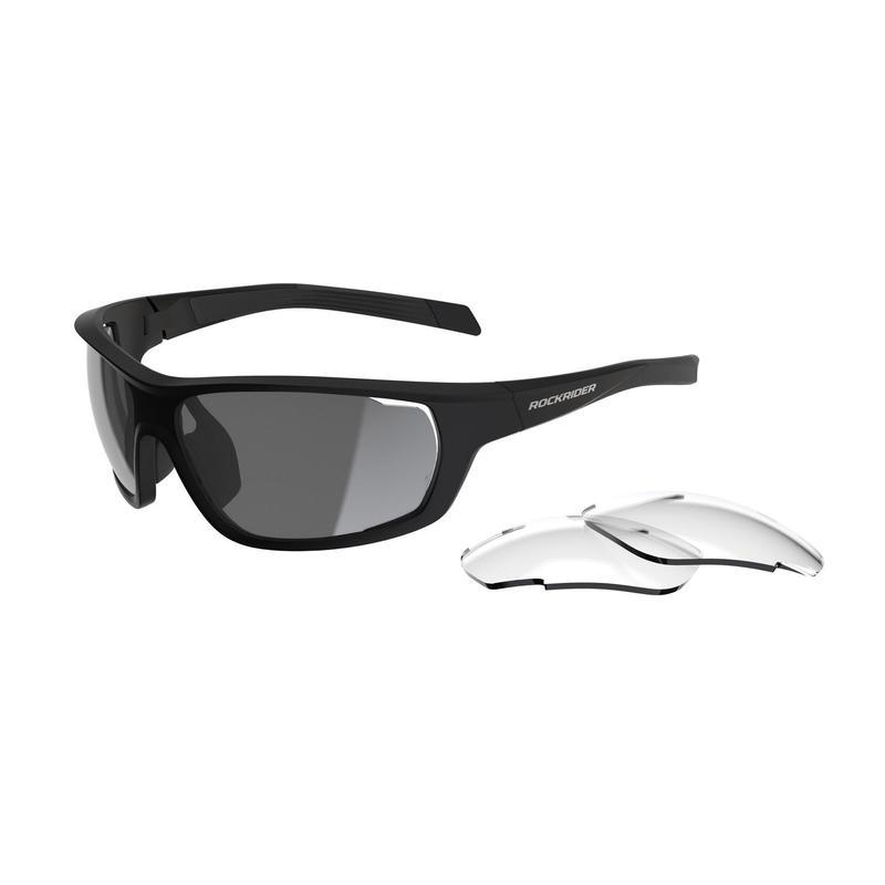 Brýle s vyměnitelnými skly KAT 0+3 na MTB XC RACE černé