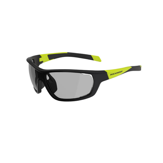Cat 1-3 Photochromic Cross-Country Mountain Bike Glasses Photo - Black/Yellow