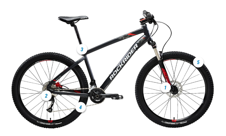 ROCKRIDER ST 540 HOTSPOT MOUNTAIN BIKE