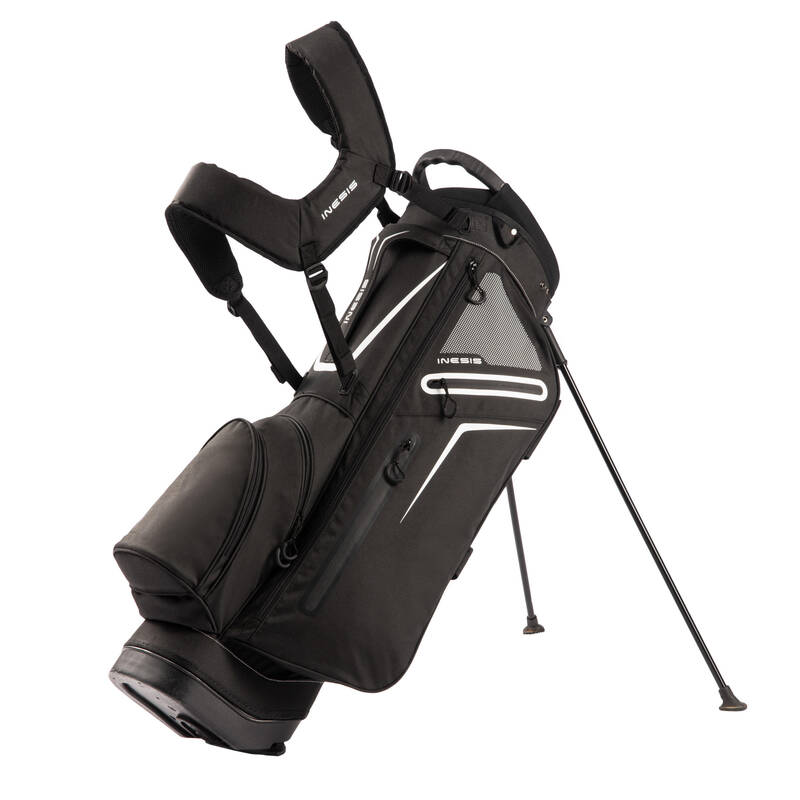 GOLFOVÉ TAŠKY Golf - BAG S TROJNOŽKOU LIGHT ČERNÝ INESIS - Golf