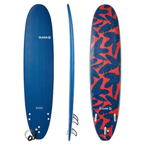 Planche de surf en mousse 8'6'' 500. Livrée avec 1 leash et 3 ailerons.