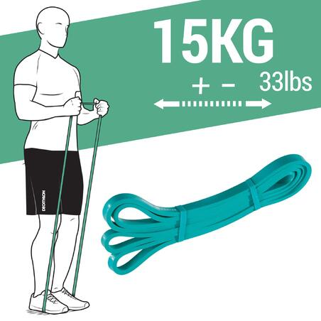 Elastīga fitnesa lente krosfita treniņiem, 15 kg