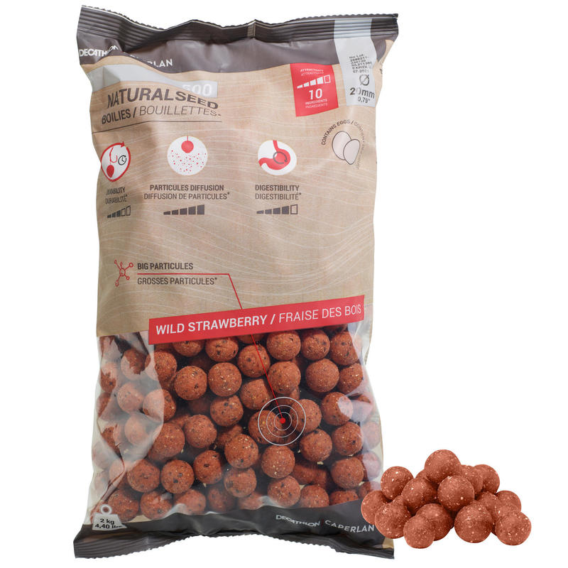 Carp Fishing Boilies NATURALSEED 20 mm 2 kg - Strawberry