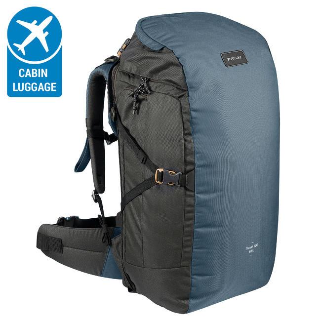 TRAVEL Backpack 100 _PIPE_ 40 Litre-Blue