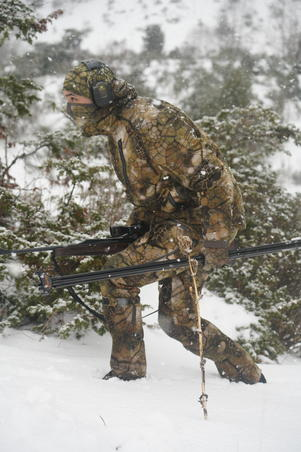 Hunting Silent Warm Waterproof Trousers 900 - Furtiv Camouflage