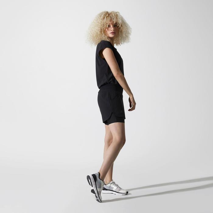 RUN DRY + WOMEN'S RUNNING SHORTIE SUIT - BLACK