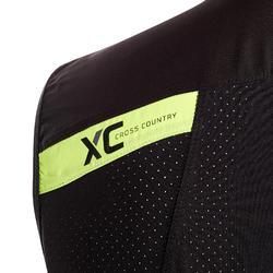 Mouwloos jack XC MTB Race zwart/geel